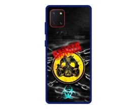 Husa Premium Spate Upzz Pro Anti Shock Compatibila Cu Samsung Galaxy Note 10 Lite, Model Toxic, Rama Albastra