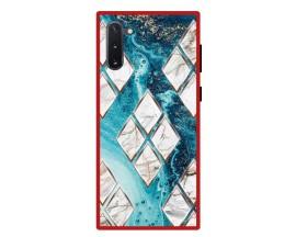 Husa Premium Spate Upzz Pro Anti Shock Compatibila Cu Samsung Galaxy Note 10, Model Marble 1, Rama Rosie