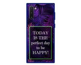 Husa Premium Spate Upzz Pro Anti Shock Compatibila Cu Samsung Galaxy Note 10, Model Perfect Day, Rama Albastra