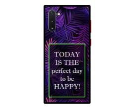 Husa Premium Spate Upzz Pro Anti Shock Compatibila Cu Samsung Galaxy Note 10, Model Perfect Day, Rama Neagra