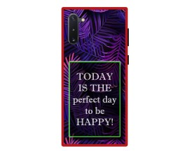 Husa Premium Spate Upzz Pro Anti Shock Compatibila Cu Samsung Galaxy Note 10, Model Perfect Day, Rama Rosie
