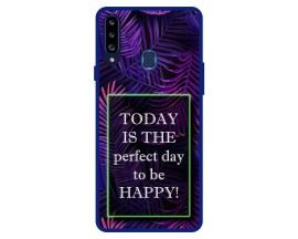 Husa Premium Spate Upzz Pro Anti Shock Compatibila Cu Samsung Galaxy A20s, Model Perfect Day, Rama Albastra