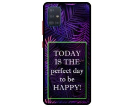 Husa Premium Spate Upzz Pro Anti Shock Compatibila Cu Samsung Galaxy A71 5G, Model Perfect Day, Rama Neagra