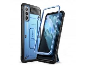 Husa Premium Supcase Unicorn Compatibila Cu Samsung Galaxy S21, Albastru Metalic