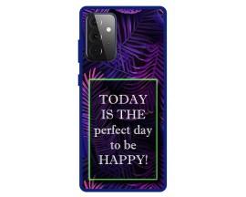 Husa Premium Spate Upzz Pro Anti Shock Compatibila Cu Samsung Galaxy A72 5G, Model Perfect Day, Rama Albastra