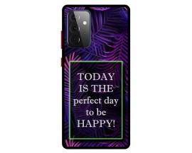 Husa Premium Spate Upzz Pro Anti Shock Compatibila Cu Samsung Galaxy A72 5G, Model Perfect Day, Rama Neagra