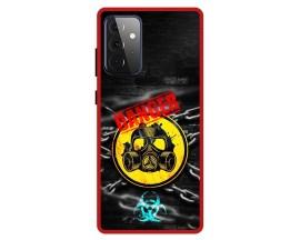 Husa Premium Spate Upzz Pro Anti Shock Compatibila Cu Samsung Galaxy A72 5G, Model Toxic, Rama Rosie