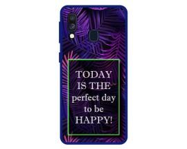 Husa Premium Spate Upzz Pro Anti Shock Compatibila Cu Samsung Galaxy A40, Model Perfect Day, Rama Albastra