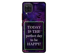 Husa Premium Spate Upzz Pro Anti Shock Compatibila Cu Samsung Galaxy A42 5G, Model Perfect Day, Rama Neagra