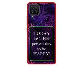 Husa Premium Spate Upzz Pro Anti Shock Compatibila Cu Samsung Galaxy A42 5G, Model Perfect Day, Rama Rosie