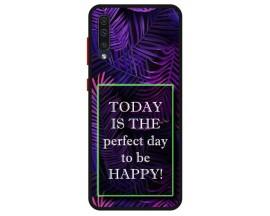 Husa Premium Spate Upzz Pro Anti Shock Compatibila Cu Samsung Galaxy A50, Model Perfect Day, Rama Neagra