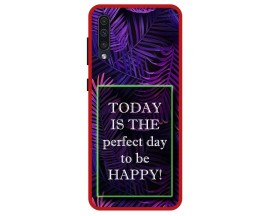 Husa Premium Spate Upzz Pro Anti Shock Compatibila Cu Samsung Galaxy A50, Model Perfect Day, Rama Rosie
