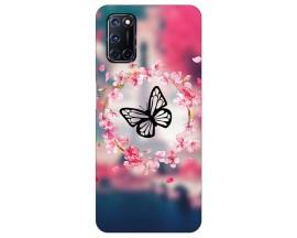 Husa Silicon Soft Upzz Print Compatibila Cu Oppo A52 Model Butterfly