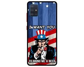 Husa Premium Spate Upzz Pro Anti Shock Compatibila Cu Samsung Galaxy A51 5G, Model I Want You, Rama Neagra