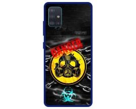 Husa Premium Spate Upzz Pro Anti Shock Compatibila Cu Samsung Galaxy A51 5G, Model Toxic, Rama Albastra