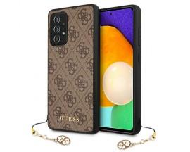Husa Premium Guess Charms Collection Compatibila Cu Samsung Galaxy A72, Maro