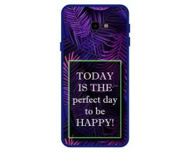 Husa Premium Spate Upzz Pro Anti Shock Compatibila Cu Samsung Galaxy J4+ Plus, Model Perfect Day, Rama Albastra