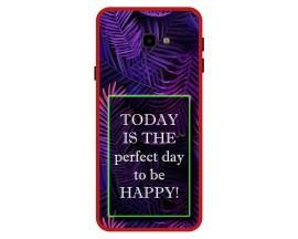 Husa Premium Spate Upzz Pro Anti Shock Compatibila Cu Samsung Galaxy J4+ Plus, Model Perfect Day, Rama Rosie