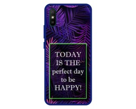Husa Premium Spate Upzz Pro Anti Shock Compatibila Cu Xiaomi Redmi 9A, Model Perfect Day, Rama Albastra