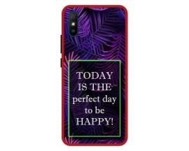 Husa Premium Spate Upzz Pro Anti Shock Compatibila Cu Xiaomi Redmi 9A, Model Perfect Day, Rama Rosie