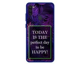 Husa Premium Spate Upzz Pro Anti Shock Compatibila Cu Samsung Galaxy M11, Model Perfect Day, Rama Albastra