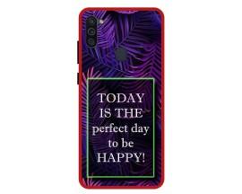 Husa Premium Spate Upzz Pro Anti Shock Compatibila Cu Samsung Galaxy M11, Model Perfect Day, Rama Rosie