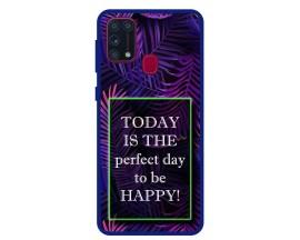 Husa Premium Spate Upzz Pro Anti Shock Compatibila Cu Samsung Galaxy M31, Model Perfect Day, Rama Albastra