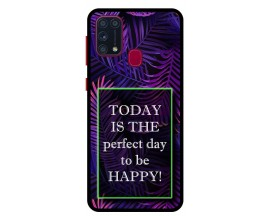 Husa Premium Spate Upzz Pro Anti Shock Compatibila Cu Samsung Galaxy M31, Model Perfect Day, Rama Neagra