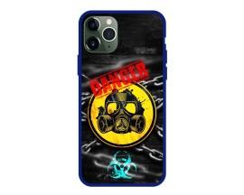 Husa Premium Spate Upzz Pro Anti Shock Compatibila Cu Iphone 11 Pro, Model Toxic, Rama Albastra
