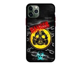 Husa Premium Spate Upzz Pro Anti Shock Compatibila Cu Iphone 11 Pro Max, Model Toxic, Rama Neagra
