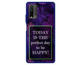 Husa Premium Spate Upzz Pro Anti Shock Compatibila Cu Xiaomi Redmi 9T, Model Perfect Day, Rama Albastra