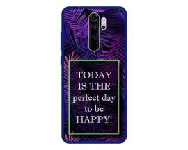 Husa Premium Spate Upzz Pro Anti Shock Compatibila Cu Xiaomi Redmi Note 8 Pro, Model Perfect Day, Rama Albastra