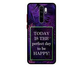 Husa Premium Spate Upzz Pro Anti Shock Compatibila Cu Xiaomi Redmi Note 8 Pro, Model Perfect Day, Rama Neagra