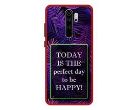 Husa Premium Spate Upzz Pro Anti Shock Compatibila Cu Xiaomi Redmi Note 8 Pro, Model Perfect Day, Rama Rosie