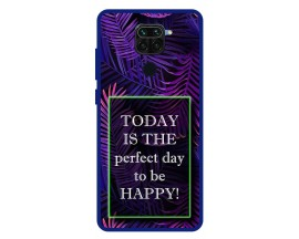 Husa Premium Spate Upzz Pro Anti Shock Compatibila Cu Xiaomi Redmi Note 9, Model Perfect Day, Rama Albastra