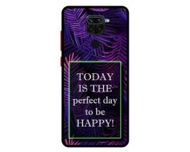 Husa Premium Spate Upzz Pro Anti Shock Compatibila Cu Xiaomi Redmi Note 9, Model Perfect Day, Rama neagra