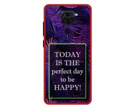 Husa Premium Spate Upzz Pro Anti Shock Compatibila Cu Xiaomi Redmi Note 9, Model Perfect Day, Rama Rosie
