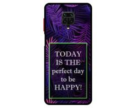 Husa Premium Spate Upzz Pro Anti Shock Compatibila Cu Xiaomi Redmi Note 9 Pro, Model Perfect Day, Rama Neagra