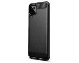 Husa Spate Upzz Carbon Pro Compatibila Cu Samsung Galaxy A12 / M12, Negru