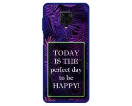 Husa Premium Spate Upzz Pro Max Anti Shock Compatibila Cu Xiaomi Redmi Note 9 Pro Max, Model Perfect Day, Rama Albastra
