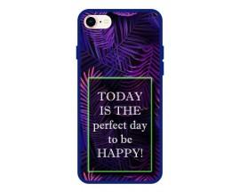 Husa Premium Spate Upzz Pro Anti Shock Compatibila Cu Iphone 7 - 8 - Se 2, Model Perfect Day, Rama Albastra