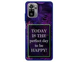 Husa Premium Spate Upzz Pro Max Anti Shock Compatibila Cu Xiaomi Redmi Note 10-10S, Model Perfect Day, Rama Albastra