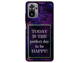 Husa Premium Spate Upzz Pro Max Anti Shock Compatibila Cu Xiaomi Redmi Note 10-10S, Model Perfect Day, Rama Neagra