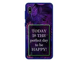Husa Premium Spate Upzz Pro Anti Shock Compatibila Cu Samsung Galaxy A10, Model Perfect Day, Rama Albastra
