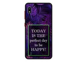 Husa Premium Spate Upzz Pro Anti Shock Compatibila Cu Samsung Galaxy A10, Model Perfect Day, Rama Neagra