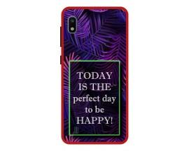 Husa Premium Spate Upzz Pro Anti Shock Compatibila Cu Samsung Galaxy A10, Model Perfect Day, Rama Rosie