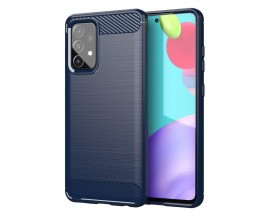 Husa Spate Upzz Carbon Pro Compatibil Cu Samsung Galaxy A72 4G, Silicon, Albastru