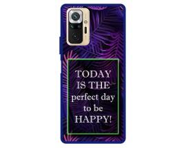 Husa Premium Spate Upzz Pro Max Anti Shock Compatibila Cu Xiaomi Redmi Note 10 Pro, Model Perfect Day, Rama Albastra