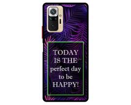Husa Premium Spate Upzz Pro Max Anti Shock Compatibila Cu Xiaomi Redmi Note 10 Pro, Model Perfect Day, Rama Neagra