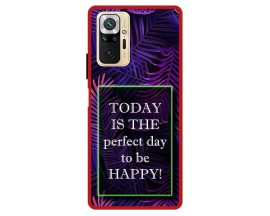 Husa Premium Spate Upzz Pro Max Anti Shock Compatibila Cu Xiaomi Redmi Note 10 Pro, Model Perfect Day, Rama Rosie